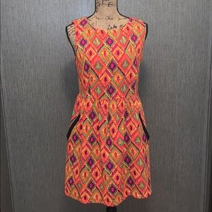 NWOT Young Threads Triangle Print Pocket Dress M